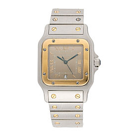 Cartier Santos 1566 Stainless Steel and 18k Yellow Gold Quartz 32mm Watch