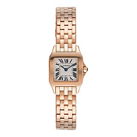 Cartier Santos Demoiselle W25073X9 18K Rose Gold Womens Watch