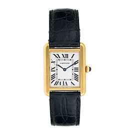 Cartier 2743 Tank Solo 18K Yellow Gold 30mm Womens Watch