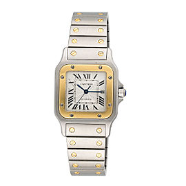Cartier Santos 100 2319 Two Tone Stainless Steel and Yellow Gold Automatic 30mm Womens Watch