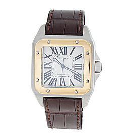 Cartier Santos 2656 Stainless Steel and 18K Yellow Gold 38mm Watch