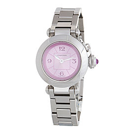 Cartier Miss Pasha 2973 Stainless Steel Pink Dial Watch