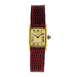 Cartier Tank Vermeil Ladies Watch