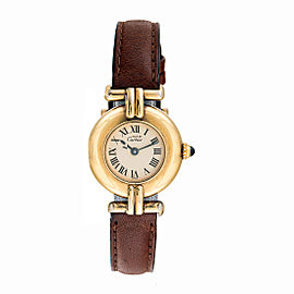 Cartier Must de Colisee 590002 Vermeil Gold Plated Sterling Silver 27mm Womens Watch