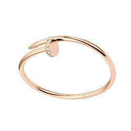 Cartier Juste Un Clou Bracelet Rose Gold with Diamonds Size 17
