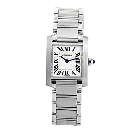 Cartier Tank Francaise Stainless Steel Quartz Womens 25mm Watch