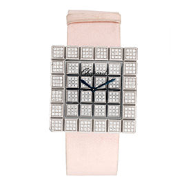 Chopard 18K White Gold Ice Cube Diamond 31.5mm Womens Watch