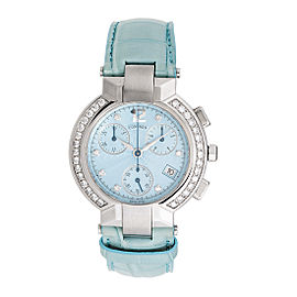 Concord La Scala Steel Quartz Chronograph 14.c5.1891 Diamond 38mm Womens Watch