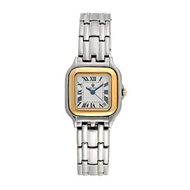 Croton Stainless Steel and 18K Yellow Gold Quartz 24mm Womens Watch