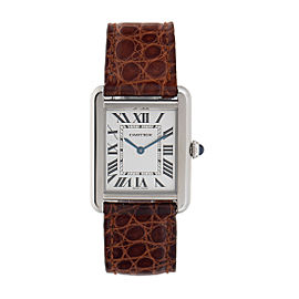 Cartier Tank Solo 2716 Stainless Steel 24.5mm Womens Watch