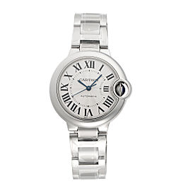 Cartier Ballon Bleu W6920071 Stainless Steel Automatic Silver Dial 33mm Womens Watch