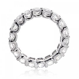 14K White Gold & Diamond Eternity Wedding Band