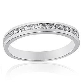 Platinum & Channel Set Round Brilliant Cut Diamond Wedding Band