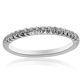 14K White Gold & Diamonds Wedding Band Ring