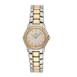 Ebel Sport Classic 1157111 18K Yellow Gold & Stainless Steel Quartz 25mm Womens Watch