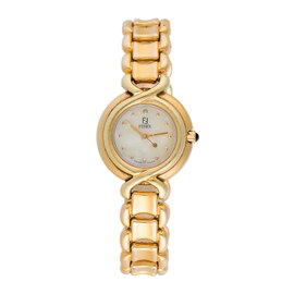Fendi Gold Plated Stainless Steel Quartz 26mm Womens Watch