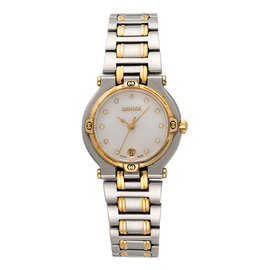 Gucci 9000L Stainless Steel and Gold Plated Quartz 25mm Womens Watch