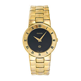 Gucci 3300L Gold Plated Quartz 26.5mm Womens Watch