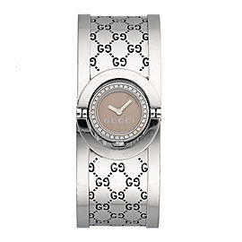 Gucci 112 Quartz Diamond 23mm Womens Watch