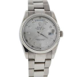 Rolex Day Date 118239 18K White Gold 36mm Unisex Watch