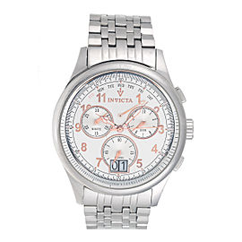 Invicta 0418 Stainless Steel Swiss Quartz Chronograph 47mm Mens Watch