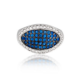 Le Vian Certified Pre-Owned Cornflower Ceylon Sapphires and Vanilla Diamonds set in 14k Vanilla Gold
