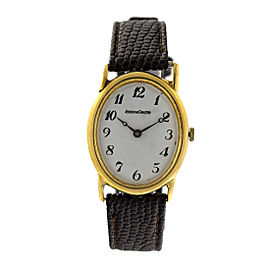 Jaeger LeCoultre 18k Yellow Gold Vintage Oval Mens Watch