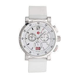 Michele MW01K00D9001 Sport Sail Large Analog-Display Swiss-Quartz Silver-Tone 42mm Womens Watch