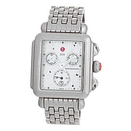 Michele Deco Chronograph Stainless Steel Ladies Watch