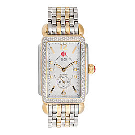 Michele Deco Park MW06M01C5025 Stainless Steel and Gold Plated Diamond 26mm Womens Watch