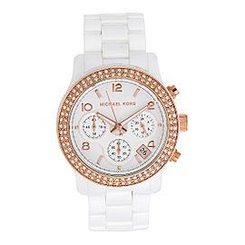 Michael Kors MK5269 White Ceramic White Dial 39mm Womens Watch