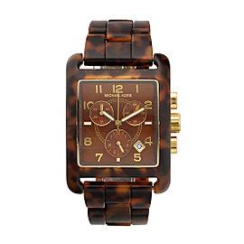 Michael Kors Chronograph MK5497 Tortoise Acetate Women's Bracelet Watch