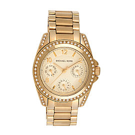Michael Kors Blair MK5639 Champagne Dial Gold-Tone Stainless Steel 16mm Womens Watch