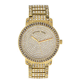 Michael Kors Mk5061 Gold Tone Swarovski Crystal 38mm Watch
