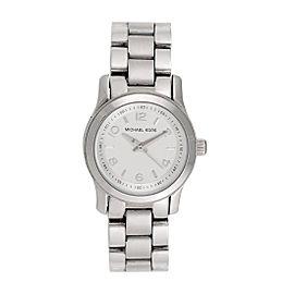 Michael Kors Dress MK3103 Silver Dial Silver-Tone 26mm Womens Watch