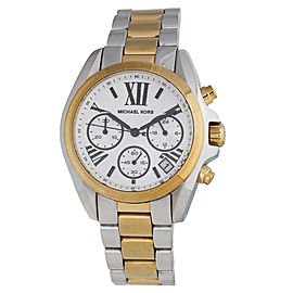 Michael Kors Bradshaw MK5912 Silver and Gold-Tone Stainless Steel Chronograph 36mm Watch