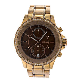 Michael Kors Chronograph Two Tone Dial Women's Watch MK5553