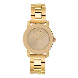 Movado Bold 3600104 Yellow Gold Ion Plated Stainless Steel Quartz 36mm Womens Watch
