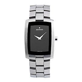 Movado Museum 84 C6 1452 Stainless Steel Black Dial Quartz 30mm Watch