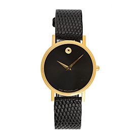 Movado Museum 87.45.882 Gold Plated Quartz Womens 30mm Watch