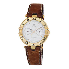 Omega 18k Yellow Gold Constellation Day-Date Mens Watch