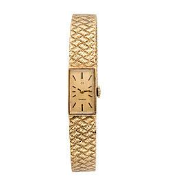 Omega 14K Yellow Gold Vintage Womens 19mm Dress Watch