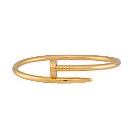Cartier Juste Un Clou 18K Yellow Gold Bracelet Size 17