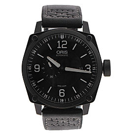 Oris 7617a Stainless Steel Black Dial 43mm Watch