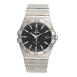 Omega Constellation 09 123.10.35.60.01.001 Black Dial Quartz 35mm Mens Watch