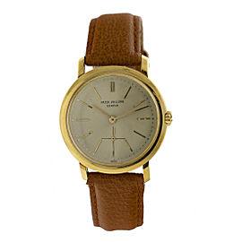 Patek Philippe 18k Yellow Gold Automatic Vintage Watch