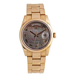 Rolex Day-Date President 118205 18k Rose Gold Mens Watch
