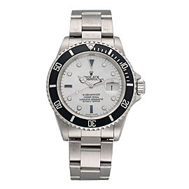 Rolex Submariner 16610LN Stainless Steel Mother Of Pearl Diamond Dial 40mm Mens Watch