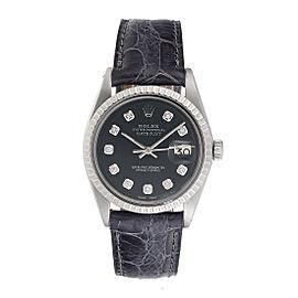 Rolex Datejust 1601 Stainless Steel Custom Diamond Dial 36mm Unisex Watch