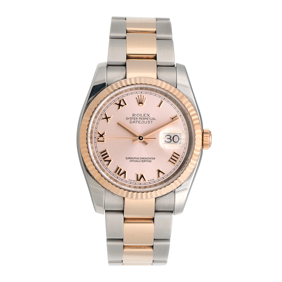 48b041e2dbb Rolex Oyster Perpetual Datejust 116231 PRO Pink Dial Stainless Steel and  18K Everose Gold Bracelet Automatic 36mm Mens Watch   Rolex   Buy at  TrueFacet